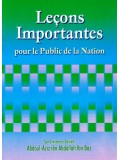 French Lecons Importantes